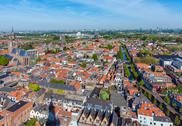 View of the roofs of the houses of Delft, Netherlands Stock Photos