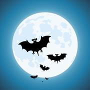 Vector bats in the night, scary vampires of wildlife concept Stock Illustration