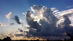 A huge, backlit distant storm cloud at sunset (2160p 25fps) Stock Footage