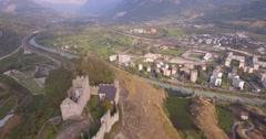 Tourbillon - Aerial 4K Stock Footage