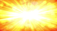 Yellow Rays slow moving flares and light orbs float around Stock Footage
