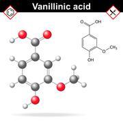 Vanillic acid molecule flavoring agent Stock Illustration