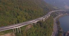 Viaduc de Chillon - Aerial 4K Stock Footage