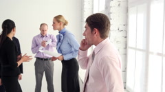 Prior to the Meeting Left a Few Minutes Stock Footage