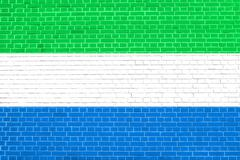 Flag of Sierra Leone brick wall texture background Stock Photos