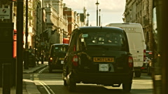 Street view, London, Red lamp, Green lamp, Cab, Red Bus Stock Footage