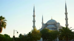 The Blue Mosque Istanbul, Turkey. Sultanahmet Camii. Stock Footage