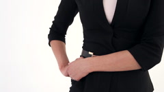 Hands and Gestures of Businesswoman Stock Footage