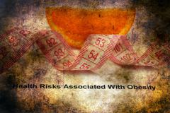 Health risk factors  - overweight and obesity grunge concept Stock Illustration