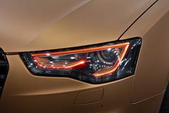 Car headlight lighting Stock Photos