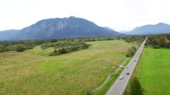 Snoqualmie Valley Traffic Mount Si Highway 202 Stock Footage