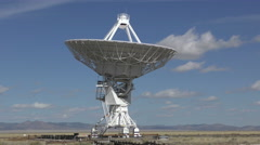 Radio telescope pointing up Stock Footage