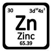 Periodic table element zinc icon. Stock Illustration