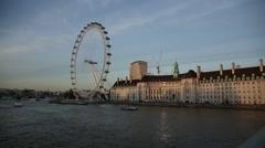 Millenium Wheel in London Stock Footage