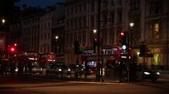 Night Life in London Stock Footage