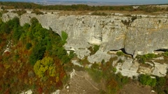 "Ancient Mangup-kale ""cave city"", located at the mountains of Crimea, Russia. Stock Footage"