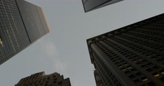 Skyscrapers in Financial District Manhattan New York City 4K Stock Footage