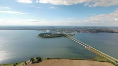 Stralsund - Germany by drone Stock Footage