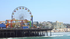 Santa Monica Pier Attractions Arkistovideo