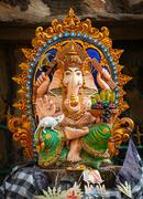 Ganesha Religious Statue on the street Stock Photos