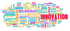 Innovation Word Cloud Concept Piirros