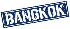 Bangkok blue square stamp Piirros