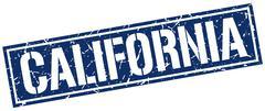 California blue square stamp Piirros