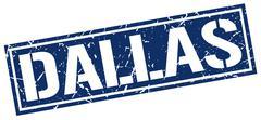 Dallas blue square stamp Stock Illustration