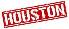 Houston red square stamp Stock Illustration