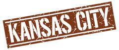 Kansas City brown square stamp Piirros