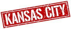 Kansas City red square stamp Piirros