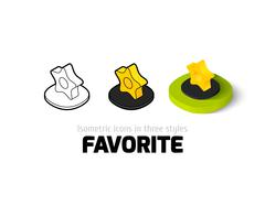 Favorite icon in different style Stock Illustration