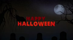 Happy Halloween - Animated Graphic. Stock Footage