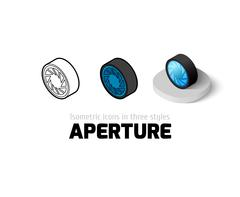 Aperture icon in different style Stock Illustration