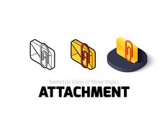Attachment icon in different style Stock Illustration