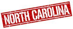 North Carolina red square stamp Stock Illustration