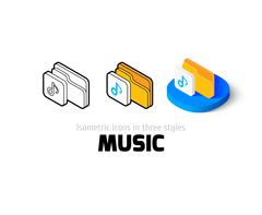 Music icon in different style Piirros
