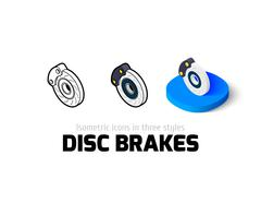 Disc brakes icon in different style Piirros