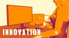 Innovation Concept Course Stock Illustration