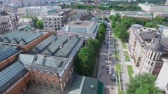 Lavroushinsky lane with pedestrian zone near State Tretyakov Gallery Stock Footage