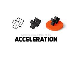Acceleration icon in different style Stock Illustration