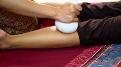 Thai Herbal Ball Massage, Stock Footage