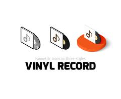 Vinyl record icon in different style Stock Illustration