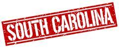 South Carolina red square stamp Stock Illustration