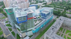 Multifunctional complex Kuntsevo Plaza among residential houses Stock Footage