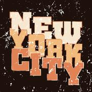 T shirt typography graphics New York Athletic style Stock Illustration