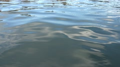 4k Beautiful Water Ripples On Lake Nature. Level View Of A Pond.-Dan Stock Footage