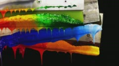 Plastisol ink on handle rubber Stock Footage