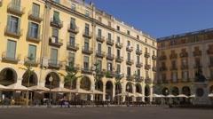 Beautiful houses in Girona, Spain Stock Footage
