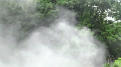 4k, Bubbling in large hot spring in the green forest of Taiwan-Dan Stock Footage